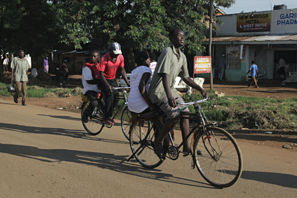 Kenyan Bicycle Taxis along the Mombasa to Kampala Highway