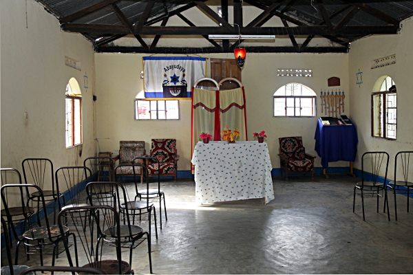 Inside the Nabugoye Synagogue