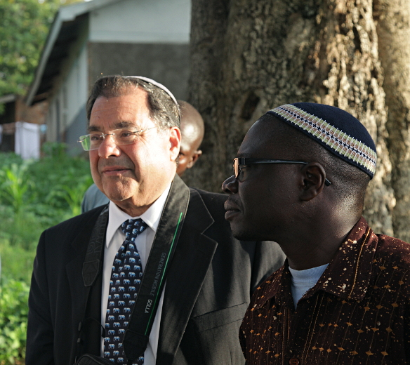 Rabbi Riskin and Rabbi Gershom in Nabugoye, near Mbale, Mount Elgon, Ugaanda