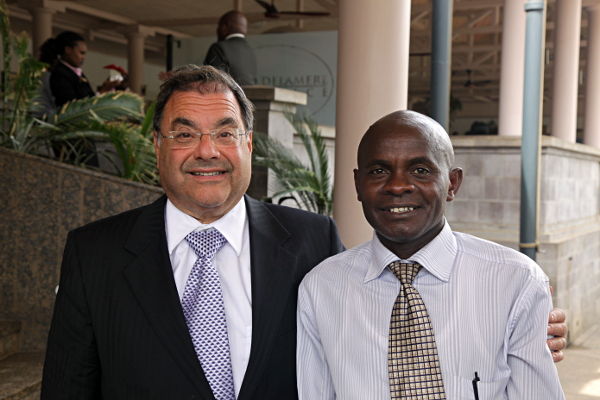 Rabbi Shlomo Riskin and James, Nairobi Kenya