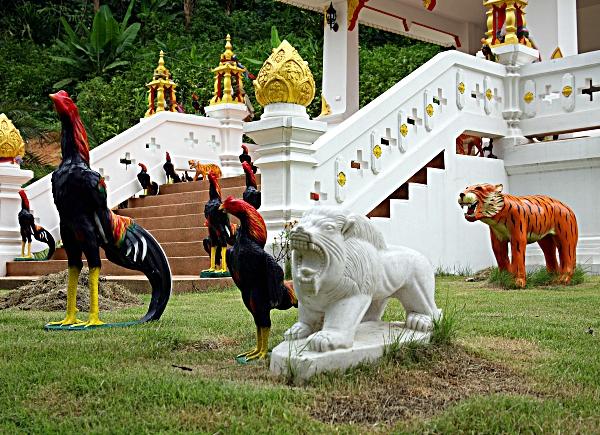 Thai Burma cockfight memorial