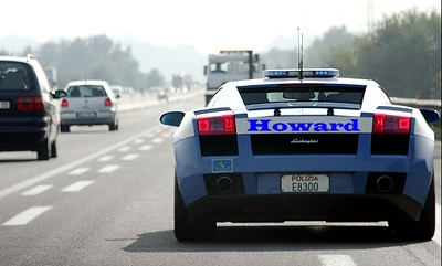 Howard driving his Lamborghini on Kvish 6 � title=