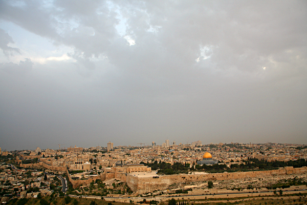 Har haBayit - View of the Temple Mount from the Mount of Olives
