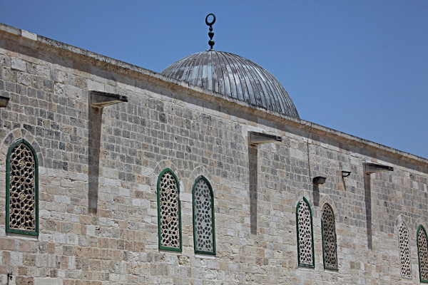Har haBayit - El Aqusa Mosque -- the first thing a Jew sees on the Mount on Entering via the Mugrabi Gate, above the Kotel